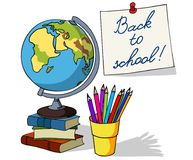 Back to school. Set of vector design elements. Hand drawn sketch in doodle style Stock Photo