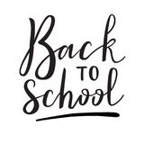 Back to school. Virtual postcard, banner design, holiday greeting for social media post, ads, poster, email, card. Lettering title Stock Photography