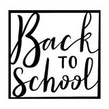 Back to school. Virtual postcard, banner design, holiday greeting for social media post, ads, poster, email, card. Lettering title Stock Photo
