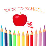 Back to school background. Beautiful artwork suitable for greeting card, posters, books Royalty Free Stock Photography