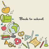 Back to school background. Vector illustration Stock Photo