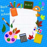 Back to school background Royalty Free Stock Photos