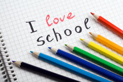 Back to school background. With pencils royalty free stock images