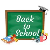 Back to school background,. Color vector illustration Stock Image