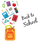 Back to school background with a bag Royalty Free Stock Photos