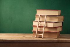Back to school background with books Royalty Free Stock Images