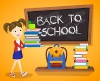 Back to school background. Cartoon vector illustration Stock Photo