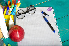 Back to school background. Closeup Royalty Free Stock Photography