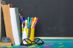 Back to school background. Closeup Royalty Free Stock Photo