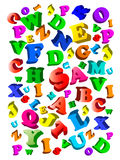 Back to school. Background with color alphabet. Stock Photo