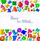 Back to school. Background with color alphabet. Stock Photography
