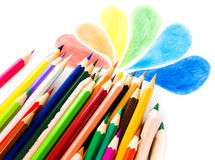 Back to School background with colored pencils. Copy space for Royalty Free Stock Photo