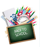 Back to school. Background with colorful supplies. Stock Images