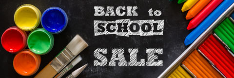 Back to school background concept with stationary Royalty Free Stock Image