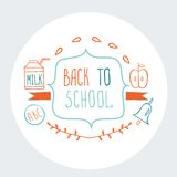 Back to School background Cute sketch style. Vector illustration Royalty Free Stock Photography