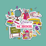 Back to School Background- for design, postcard, texture -  in v Royalty Free Stock Photo