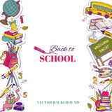 Back to School Background. For design, postcard, texture -  in vector Stock Photography