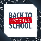 Back to School background. Education banner. Vector illustration. Stock Photo