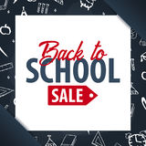 Back to School background. Education banner. Vector illustration. Stock Images