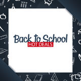 Back to School background. Education banner. Vector illustration. Stock Image