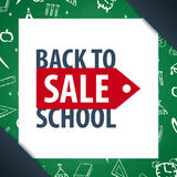 Back to School background. Education banner. Vector illustration. Stock Photography
