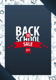 Back to School background. Education banner. Vector illustration. Royalty Free Stock Photography