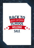 Back to School background. Education banner. Vector illustration. Back to School background. Education banner. Vector illustration Royalty Free Stock Images