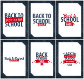 Back to School background. Education banner. Vector illustration. Back to School background. Education banner. Vector illustration Stock Photos