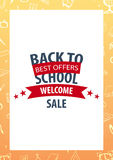 Back to School background. Education banner. Vector illustration. Back to School background. Education banner. Vector illustration Stock Image