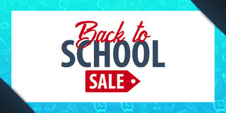 Back to School background. Education banner. Vector illustration. Back to School background. Education banner. Vector illustration Royalty Free Stock Photography