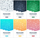 Back to School background. Education banner. Vector illustration. Royalty Free Stock Photos