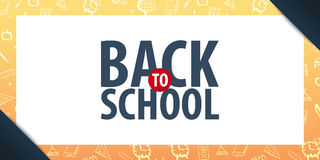 Back to School background. Education banner. Vector illustration. Royalty Free Stock Photo
