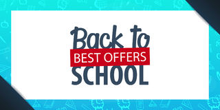 Back to School background. Education banner. Vector illustration. Stock Photos