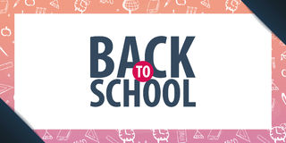 Back to School background. Education banner. Vector illustration. Back to School background. Education banner. Vector illustration Stock Images