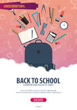 Back to School background. Education banner. Vector illustration. Royalty Free Stock Images