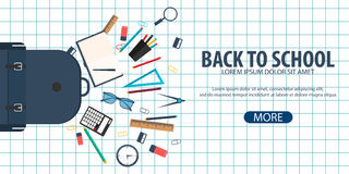 Back to School background. Education banner. Vector illustration. Back to School background. Education banner. Vector illustration Royalty Free Stock Image
