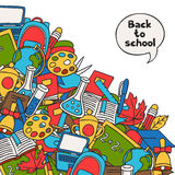 Back to school background with education hand Stock Images