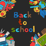 Back to school background with education hand Stock Image