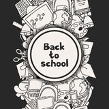 Back to school background with education hand Royalty Free Stock Photos