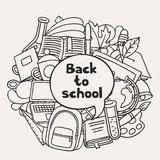 Back to school background with education hand Royalty Free Stock Image