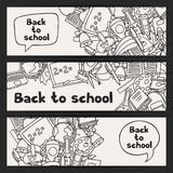 Back to school background with education hand Stock Photo