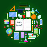 Back to School Background with Education Icon Set Stock Photos