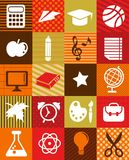 Back to school - background with education icons Royalty Free Stock Photos