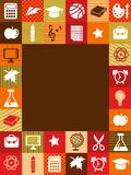 Back to school - background with education icons.  Stock Photos