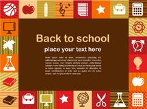 Back to school - background with education icons Royalty Free Stock Photo