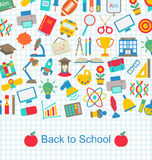 Back to School Background with Education Objects Stock Photo