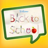 Back to school background. EPS 10 Royalty Free Stock Photo