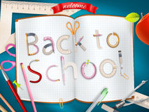 Back to school background. EPS 1 Stock Photo