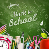 Back to school background. EPS 10 Royalty Free Stock Photos