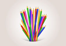 Back to school background formed with pencils Royalty Free Stock Photos